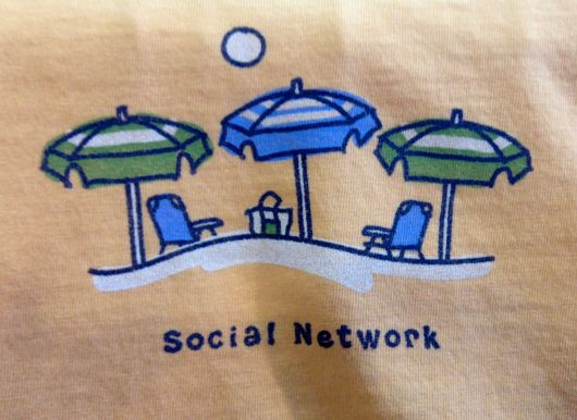 Social Networks--Online and At The Beach