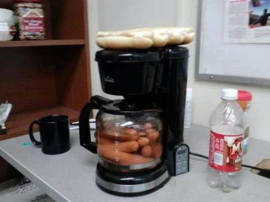 Most Novel Way To Make Hot Dogs