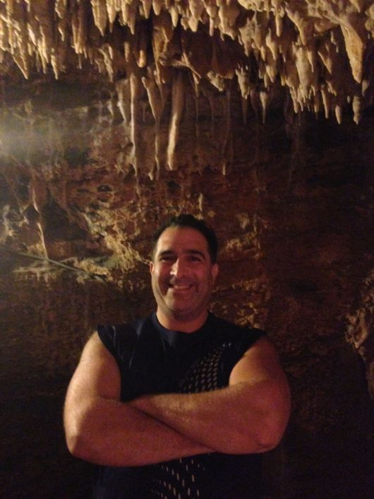 Andy At Crystal Grottoes Caverns