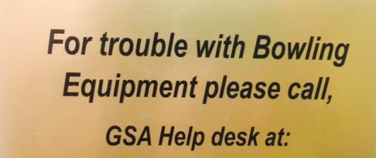 Bowling Help Desk